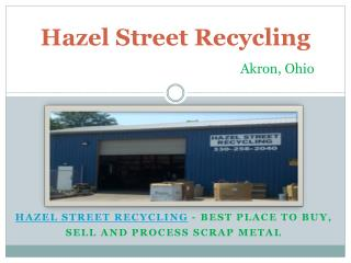 Know About Recycling of Aluminum from Hazel Street Recycling