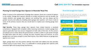 Ppt Professionals Garage Door Opener Powerpoint