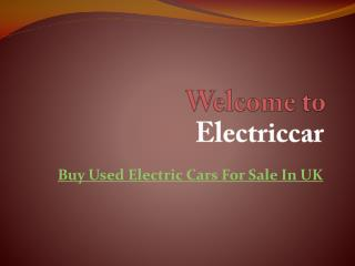 Buy Used Electric Cars For Sale In UK