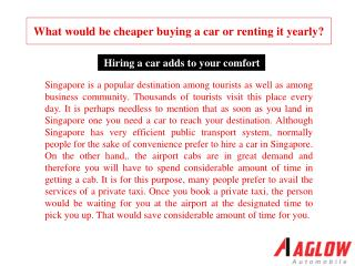 What would be cheaper buying a car or renting it yearly?