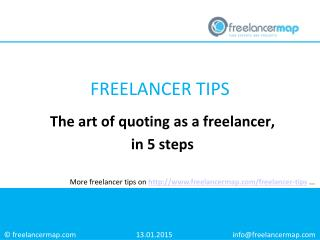 The art of quoting as a freelancer, in 5 steps