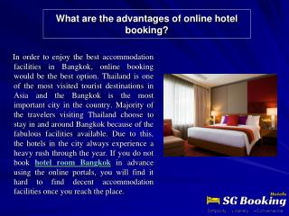 What are the advantages of online hotel booking?