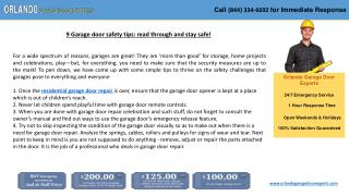 9 Garage door safety tips: read through and stay safe!