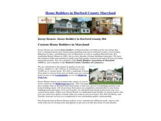 Home Builders in Harford County Maryland