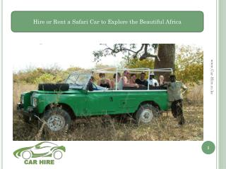 Safari Car Hire in Kenya