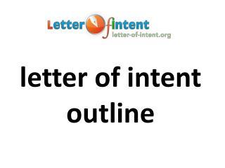 letter of intent outline