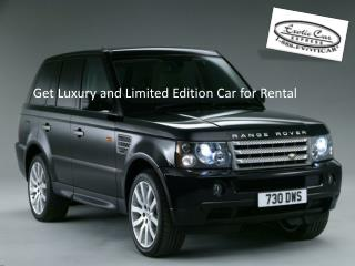 Luxury Car Rental Service from Exotic Car Express
