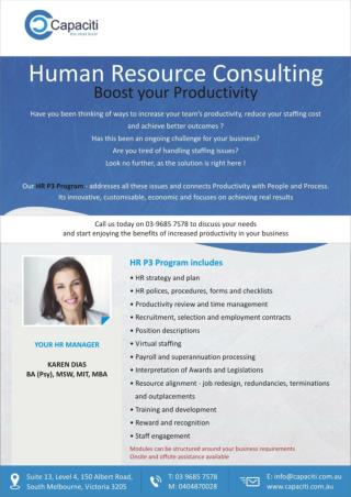 Capaciti Australia HR Services Flyer