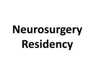 Neurosurgery Residency