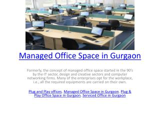 Managed Office Space in Gurgaon