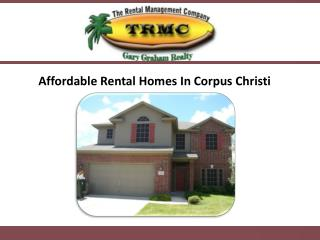 Affordable Rental Homes In Corpus Christi