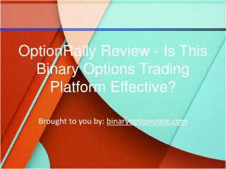 OptionRally Review - Is This Binary Options Trading Platform