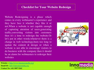 Checklist for Your Website Redesign