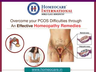 Cure from PCOS Difficulties with an Alternative Homeopathy A