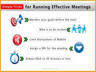 Simple Tricks for Running Effective Meetings