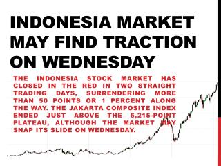 Indonesia Market May Find Traction on Wednesday