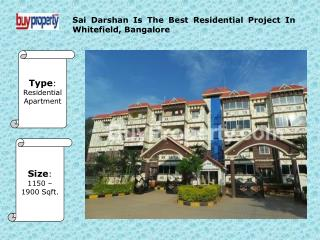 Sai Darshan Is Amazing Residential Project In Bangalore