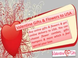 Valentine Flowers & Gifts Delivery in USA