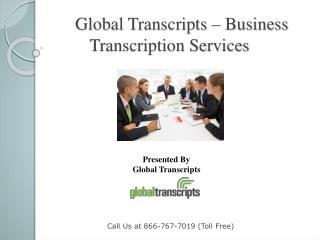 Global Transcripts - Business Transcription Services