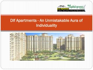 Dlf Apartments - An Unmistakable Aura of Individuality