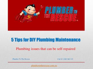5 Tips for DIY Plumbing Maintenance
