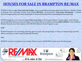 Houses for Sale in Brampton Remax