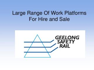 Largest range of scaffold and work safety solutions for your