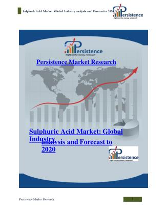 Sulphuric Acid Market: Global Industry analysis and Forecast