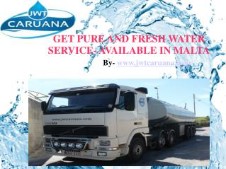 Fresh Water Supplies in Malta By JWT Caruana