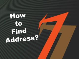 How to Find Address