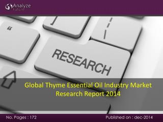 Global Thyme Essential Oil Industry Market Research Report 2