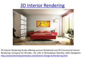 Residential 3D Interior Rendering