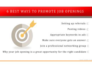 6 Best Ways to Promote a Job Opening
