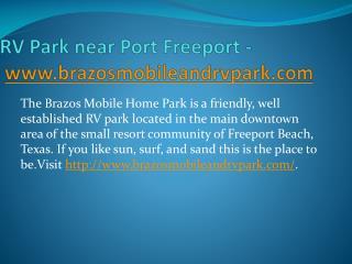RV Park near Port Freeport - www.brazosmobileandrvpark.com
