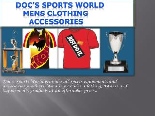 Docs Sports World Mens Clothing Accessories Biloela