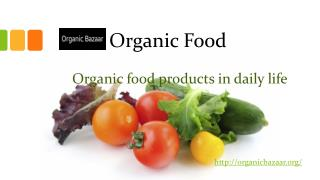 Organic food, Organic health product