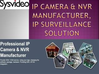 IP Camera & NVR Manufacturer, IP Surveillance Solution