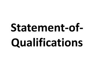 statement of-qualifications