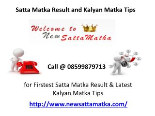 Satta Matka King Result, Tips and Number