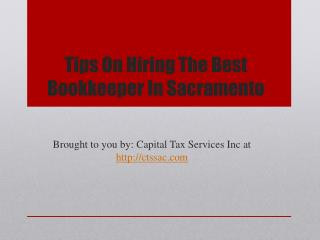 Tips On Hiring The Best Bookkeeper In Sacramento