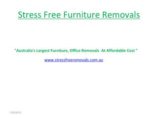 Stress Free Furniture Removals