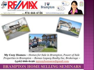 Brampton Home Selling Seminars