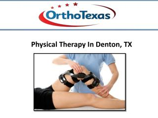 Physical Therapy at Denton, TX