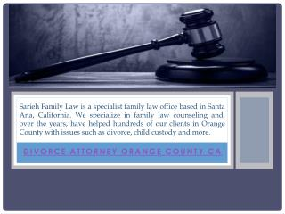 Divorce Lawyer Orange County CA