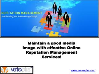 Online Reputation Management Services!