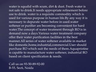 water treatment assistance, industrial ro plant manufacture