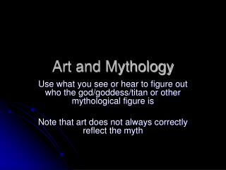 Art and Mythology