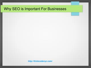 Why SEO is Important For Businesses