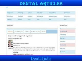 Dental articles