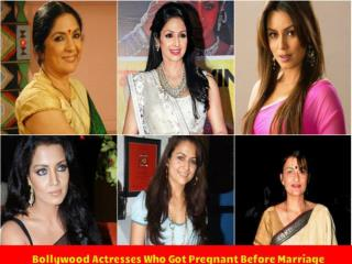 Watch Bollywood Pregnant Actresses Before Their Marriages